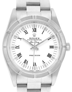 Rolex Rolex Air King 34mm White Dial Steel Mens Watch 14010 Box