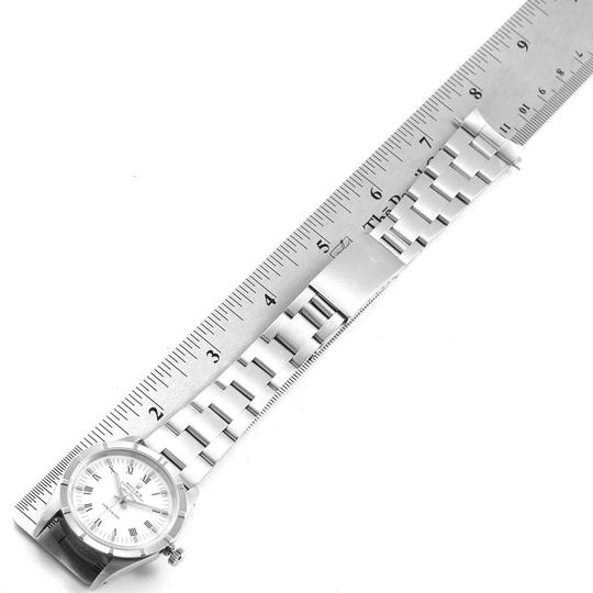 Rolex Rolex Air King 34mm White Dial Steel Mens Watch 14010 Box Image 9