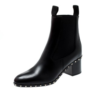 Valentino Leather Ankle Black Boots