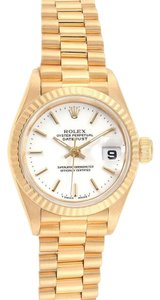 Rolex Rolex President Datejust 26 Yellow Gold White Dial Ladies Watch 69178
