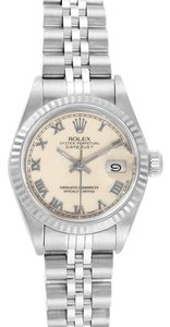 Rolex Rolex Datejust 26 Steel White Gold Ivory Roman Dial Ladies Watch 69174