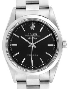 Rolex Rolex Air King 34 Black Dial Domed Bezel Mens Watch 14000