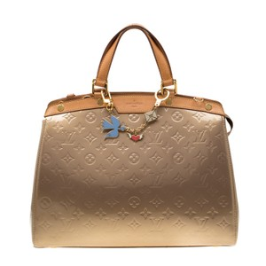 Louis Vuitton Patent Leather Monogram Tote in Beige
