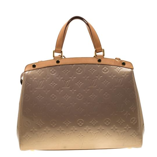 Louis Vuitton Patent Leather Monogram Tote in Beige Image 1