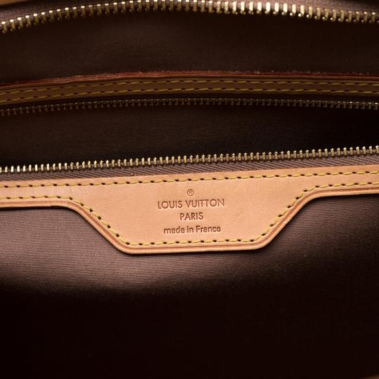 Louis Vuitton Patent Leather Monogram Tote in Beige Image 10