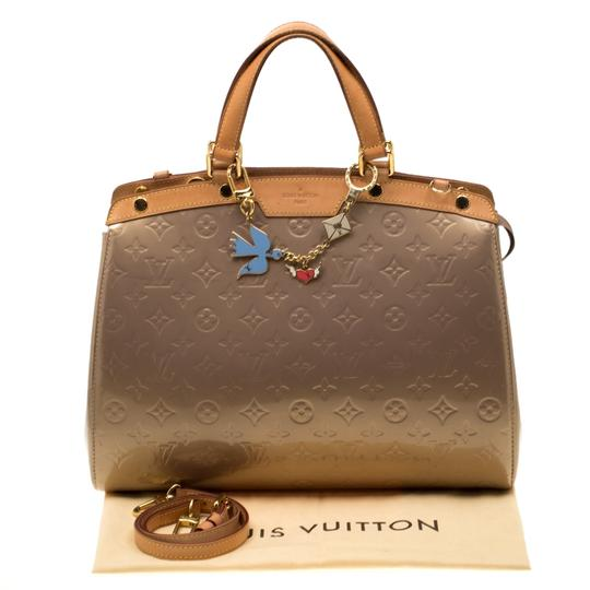 Louis Vuitton Patent Leather Monogram Tote in Beige Image 11