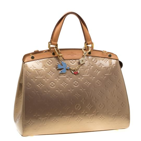 Louis Vuitton Patent Leather Monogram Tote in Beige Image 6