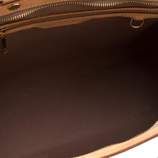 Louis Vuitton Patent Leather Monogram Tote in Beige Image 7