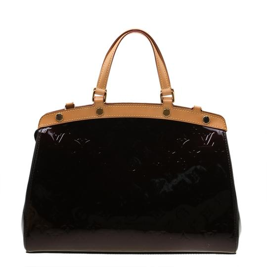 Louis Vuitton Patent Leather Monogram Tote in Burgundy Image 1