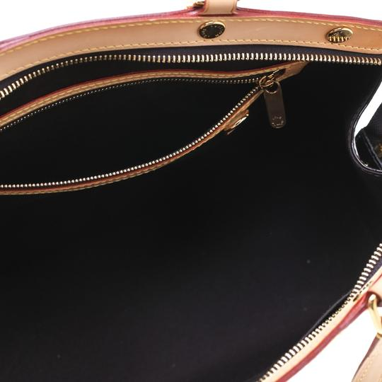 Louis Vuitton Patent Leather Monogram Tote in Burgundy Image 10