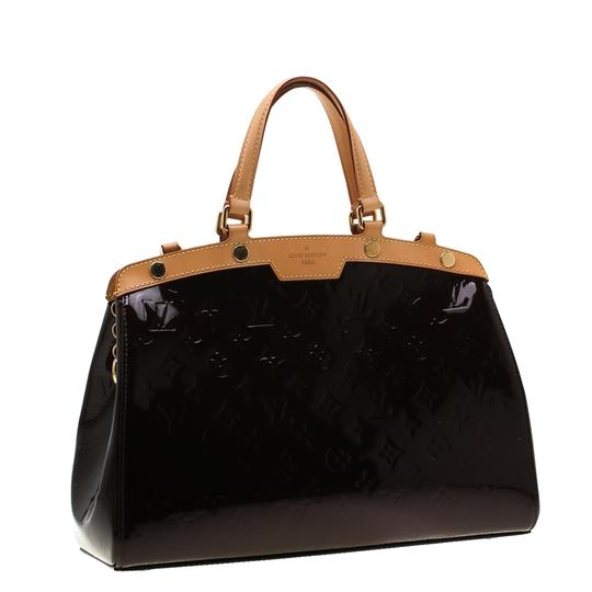 Louis Vuitton Patent Leather Monogram Tote in Burgundy Image 3