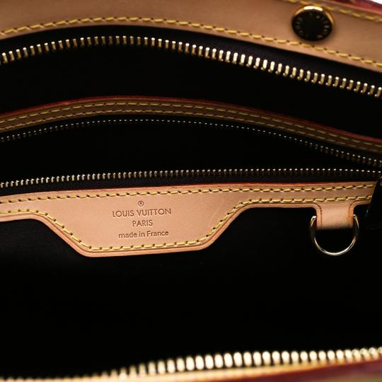 Louis Vuitton Patent Leather Monogram Tote in Burgundy Image 6