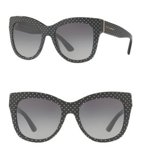 Dolce&Gabbana Black + White Polka Dot Sunglasses