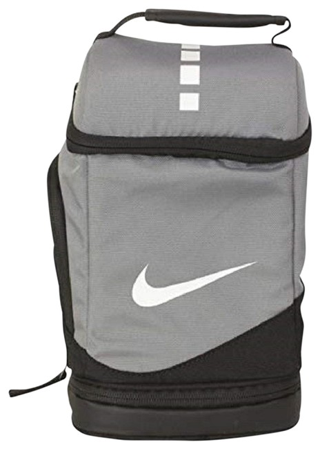 Item - Unisex Elite Fuel Pack- Insulated Lunch Cool Grey/Black/White Polyurethane Coated Polyester Tote