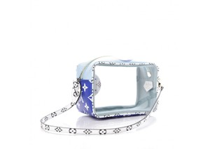 Louis Vuitton Beach Naked See Through Clear Wristlet in Blue