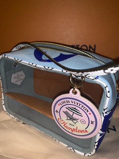 Louis Vuitton Beach Naked See Through Clear Wristlet in Blue Image 1