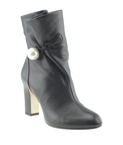 Jimmy Choo Ankle Leather Black Boots
