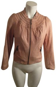 Doma Distressed Short Onm004 tan Leather Jacket