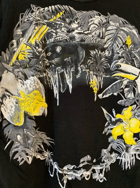 Balenciaga T Shirt Black and Yellow Image 2