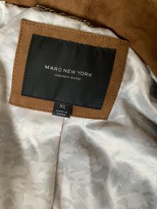 Marc by Marc Jacobs Motojacket Suede Camel Leather Jacket