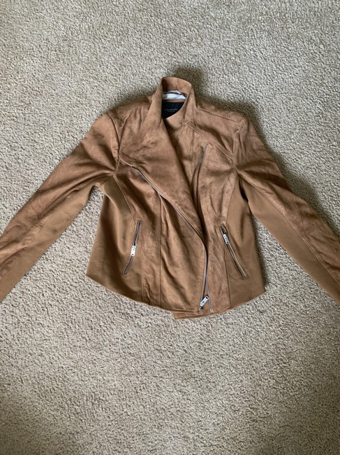 Marc by Marc Jacobs Motojacket Suede Camel Leather Jacket Image 3