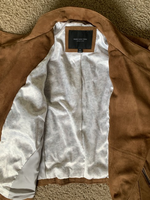 Marc by Marc Jacobs Motojacket Suede Camel Leather Jacket Image 4