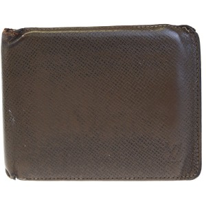 Louis Vuitton LOUIS VUITTON Florin Bifold Wallet Purse Taiga Leather Brown