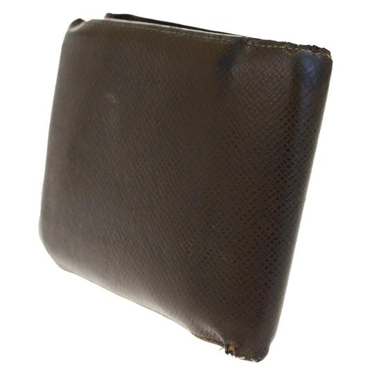 Louis Vuitton LOUIS VUITTON Florin Bifold Wallet Purse Taiga Leather Brown Image 1