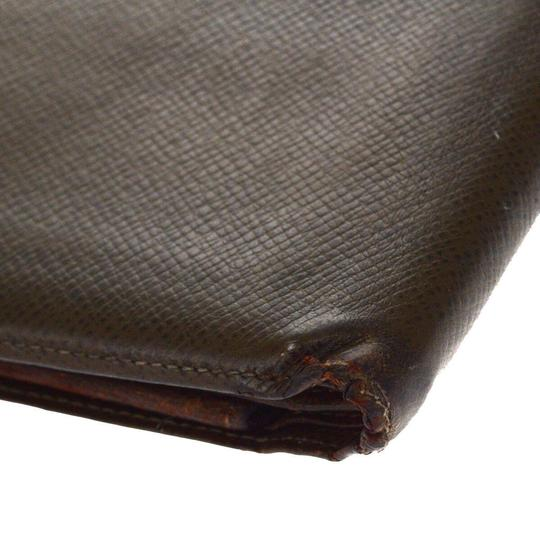 Louis Vuitton LOUIS VUITTON Florin Bifold Wallet Purse Taiga Leather Brown Image 10