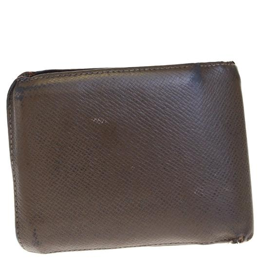 Louis Vuitton LOUIS VUITTON Florin Bifold Wallet Purse Taiga Leather Brown Image 2