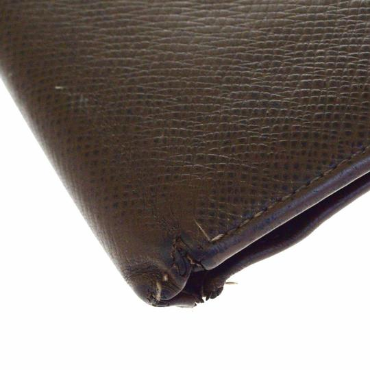 Louis Vuitton LOUIS VUITTON Florin Bifold Wallet Purse Taiga Leather Brown Image 7