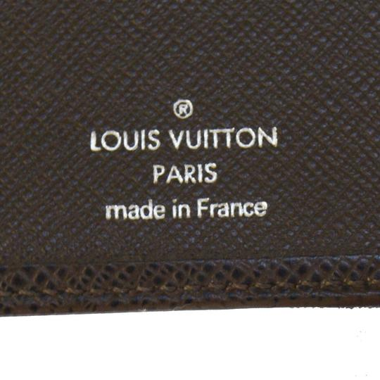 Louis Vuitton LOUIS VUITTON Florin Bifold Wallet Purse Taiga Leather Brown Image 8