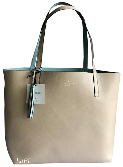 Preload https://img-static.tradesy.com/item/25871741/kate-spade-reversible-blue-beige-leather-tote-0-1-540-540.jpg