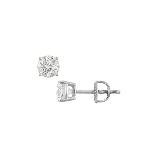 Preload https://img-static.tradesy.com/item/25871755/white-14k-gold-round-cubic-zirconia-stud-100-ct-tgw-earrings-0-0-540-540.jpg