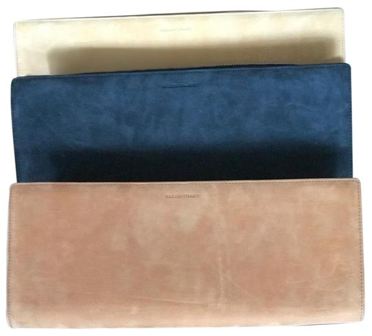 Preload https://img-static.tradesy.com/item/25871761/ellen-tracy-camel-black-and-tan-suede-leather-clutch-0-1-540-540.jpg