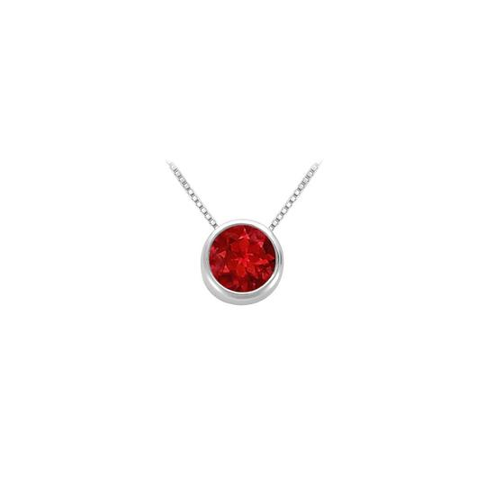 Preload https://img-static.tradesy.com/item/25871781/red-created-ruby-bezel-set-solitaire-pendant-925-sterling-silver-100-ct-necklace-0-0-540-540.jpg