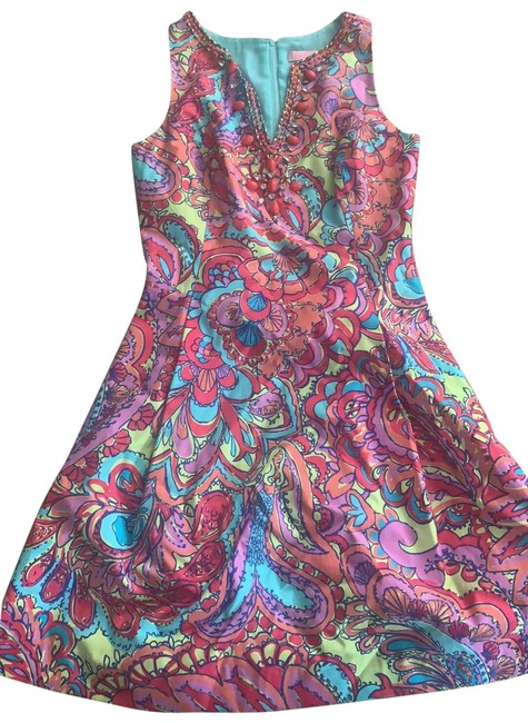Preload https://img-static.tradesy.com/item/25871787/lilly-pulitzer-multicolor-floral-short-cocktail-dress-size-4-s-0-1-650-650.jpg