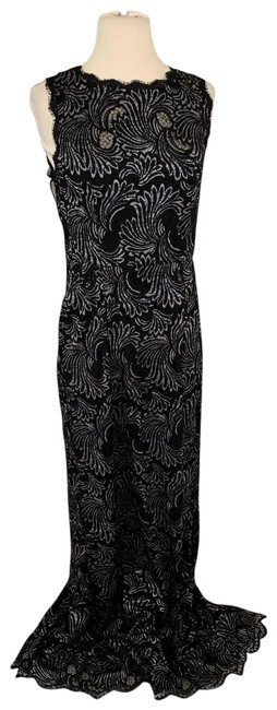 Preload https://img-static.tradesy.com/item/25871788/adrianna-papell-2tone-lace-halter-gown-long-night-out-dress-size-10-m-0-1-650-650.jpg