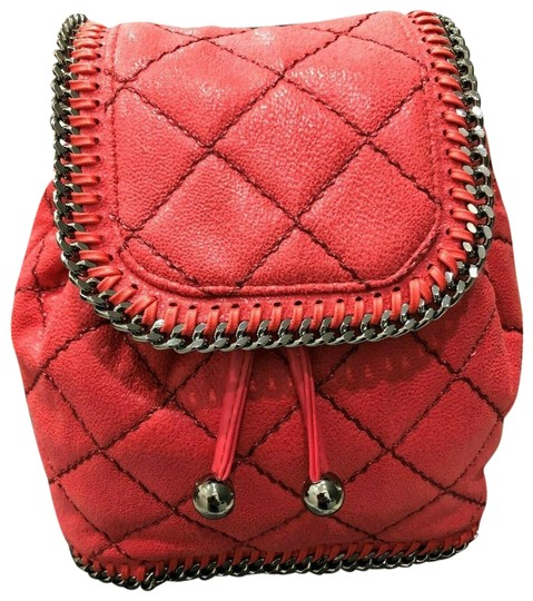Preload https://img-static.tradesy.com/item/25871799/stella-mccartney-falabella-shaggy-deer-mini-quilted-pink-flourescent-faux-leather-backpack-0-1-540-540.jpg
