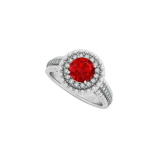 Preload https://img-static.tradesy.com/item/25871818/red-ruby-and-cz-halo-engagement-in-14k-white-gold-with-ring-0-0-540-540.jpg