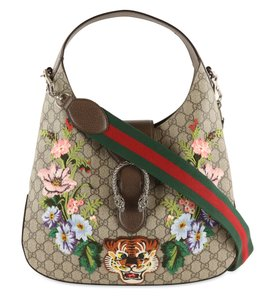 Gucci Dionysus Hobo Canvas Shoulder Bag