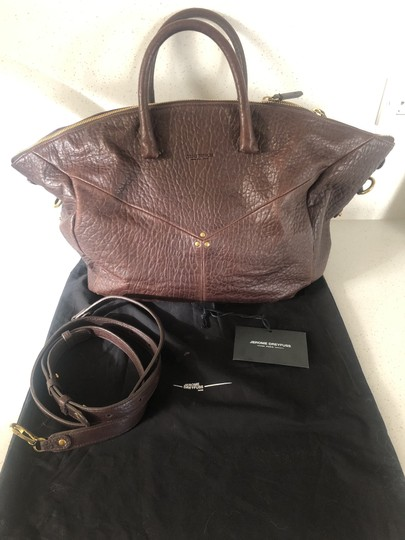 Jérôme Dreyfuss Leather Studded Tote in Brown Image 3