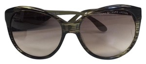 Marc by Marc Jacobs Marc by Marc Jacobs Large Olive Stripe Sunglasses