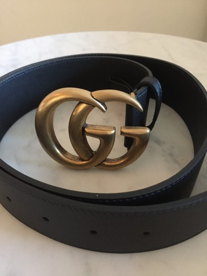 Gucci Brand New - Gucci GG Thick Leather Belt - Size 95 Image 3
