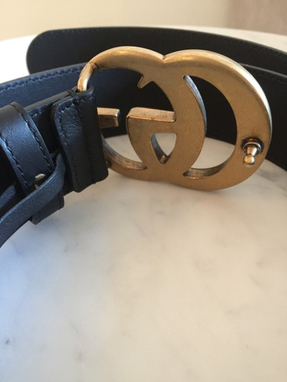 Gucci Brand New - Gucci GG Thick Leather Belt - Size 95 Image 4