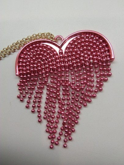 Betsey Johnson Betsey Johnson New Hot Pink Heart Necklace & Brooch Image 2
