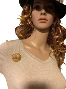 Chanel Chanel vintage gold plated horse pin brooch