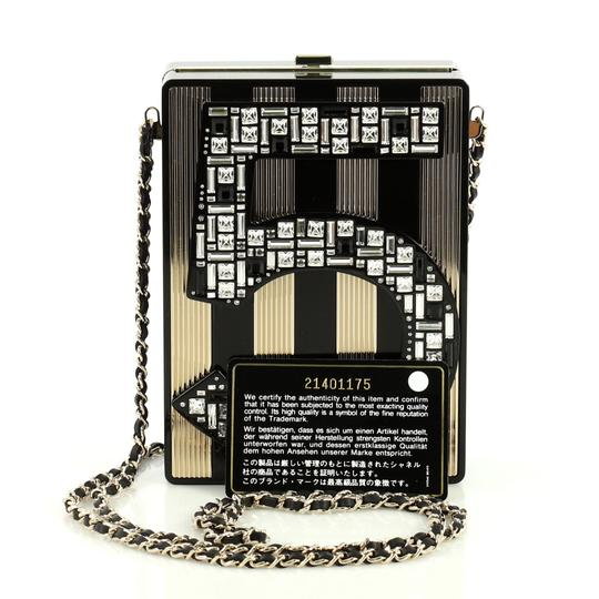 Chanel Minaudiere Plexiglass black and brown Clutch Image 1