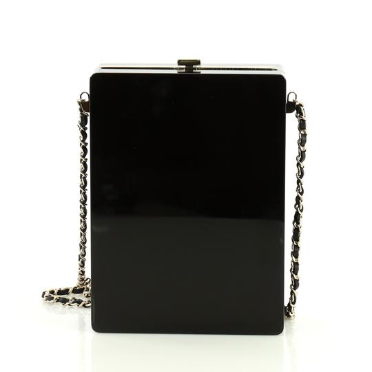 Chanel Minaudiere Plexiglass black and brown Clutch Image 3