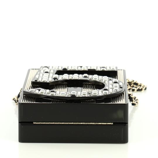 Chanel Minaudiere Plexiglass black and brown Clutch Image 4